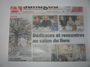 première page de l'Alsace